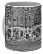 Charleston Waterfront Park Fountain Black And White Coffee Mug