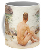 Charlie Seated On The Sand Coffee Mug