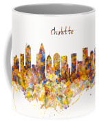 Charlotte Watercolor Skyline Coffee Mug