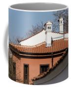 Charming Chimneys - White Stucco And Terracotta Juxtaposition Coffee Mug