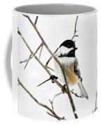 Charming Winter Chickadee Coffee Mug