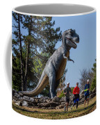Chasing Humans Through Forest Park Coffee Mug