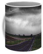 Chasing The Storm - Bw And Color Coffee Mug
