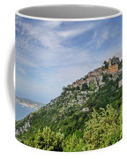 Chateau D'eze On The Road To Monaco Coffee Mug by Allen Sheffield