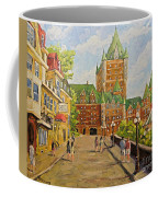 Chateau Frontenac Promenade Quebec City By Prankearts Coffee Mug