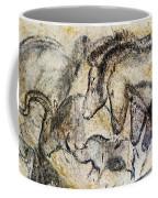 Chauvet Horses Aurochs And Rhinoceros Coffee Mug