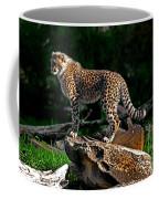 Cheetah Cub Finds Her Pride Rock Coffee Mug