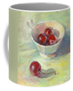 Cherries In A Cup On A Sunny Day Painting Coffee Mug