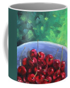 Cherries On A Blue Plate Coffee Mug