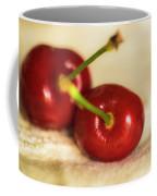 Cherries On White Coffee Mug