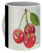 Cherry Times Three Coffee Mug