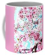 Cherry Blossom Watercolor Coffee Mug