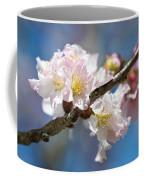 Cherry Blossoms On Blue Coffee Mug