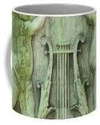 Cherubs In Moss Green Coffee Mug