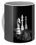 Chess Pieces On Old Wood Coffee Mug