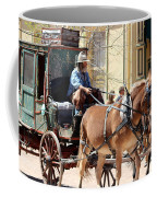 Chestnut Horses Pulling Carriage Coffee Mug