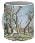 Chestnut Trees At Louveciennes Coffee Mug by Camille Pissarro