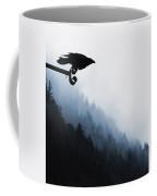 Chevron Raven Coffee Mug