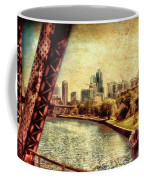 Chicago Approaching The City In June Textured Coffee Mug