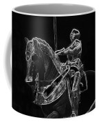 Chicago Art Institute Armored Knight And Horse Bw Pa 02 Coffee Mug