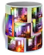 Chicago Art Institute Miniature Rooms Prismatic Collage Coffee Mug