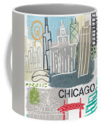 Chicago Cityscape- Art By Linda Woods Coffee Mug