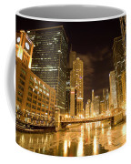 Chicago Downtown City  Night Photography Coffee Mug