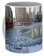 Chicago Downtown City  Night Photography Wrigley Square Coffee Mug