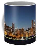 Chicago Downtown Skyline At Night Coffee Mug
