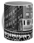 Chicago El And Warehouse Black And White Coffee Mug