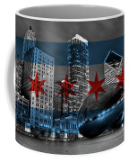 Chicago Flag Bean Coffee Mug