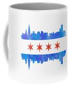 Chicago Flag Watercolor Coffee Mug
