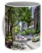 Chicago Hailing A Cab In June Coffee Mug