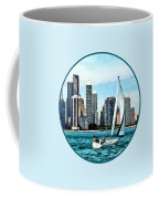 Chicago Il - Sailboat Against Chicago Skyline Coffee Mug