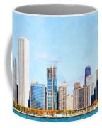 Chicago Illinois Skyline Painterly Triptych Plate Three Of Three 20180516 Coffee Mug