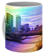 Chicago In November Chicago River South Branch Pa Rainbow 02 Coffee Mug