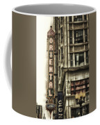 Chicago In November Oriental Theater Signage Vertical Coffee Mug