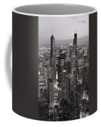 Chicago Loop Sundown B And W Coffee Mug