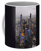 Chicago Loop Sundown Bw Color Blend Coffee Mug