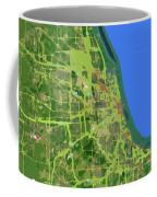 Chicago Map, Old Map, Abstract, Abstract Art, Blue, Blue And Purple Art Coffee Mug