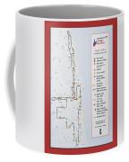 Chicago Marathon Race Day Route Map 2014 Coffee Mug