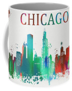 Chicago Paint Splatter Coffee Mug