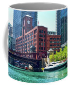 Chicago Parked By The Clark Street Bridge On The River Coffee Mug