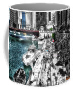 Chicago Parked On The River Walk 03 Sc Coffee Mug