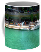 Chicago Parked On The River Walk Panorama 01 Coffee Mug