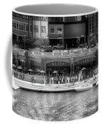 Chicago Parked On The River Walk Panorama 02 Bw Coffee Mug