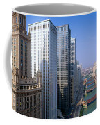 Chicago River, Aerial Shot, Illinois Coffee Mug