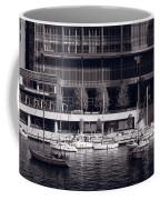 Chicago River Boats Bw Coffee Mug