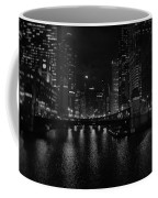 Chicago River Night Skyline Coffee Mug