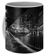 Chicago River View In Black And White  Coffee Mug